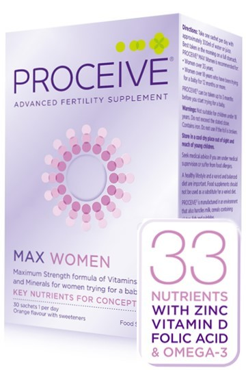 Proceive for Women Max (30 sachets) Was €58 now €46